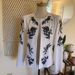 NWT Misook Collection Floral Applique Cardigan